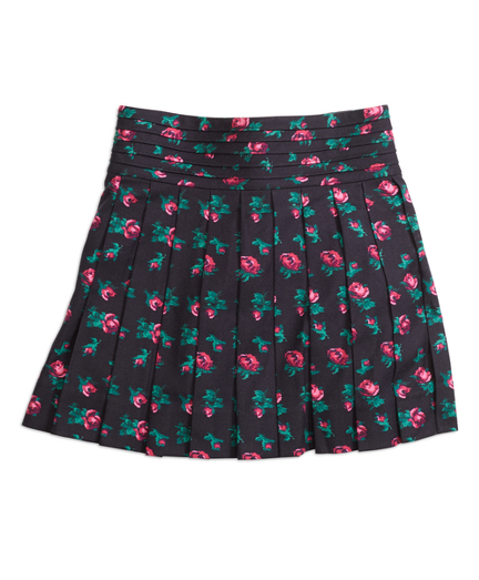 Girls Pleated Floral Skirt