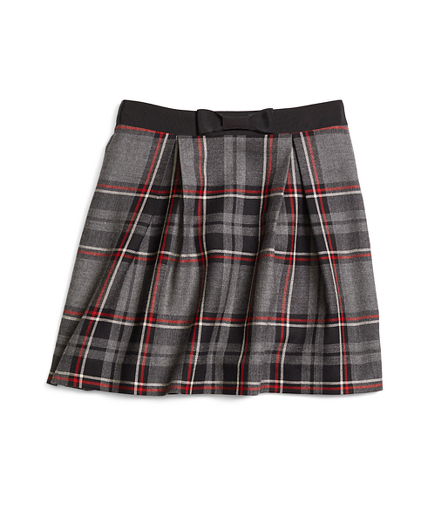 Girls Wool Tartan Skirt