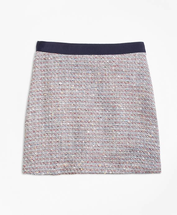 Multicolor Boucle Skirt Multi