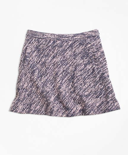 Cotton Stretch Boucle Skirt