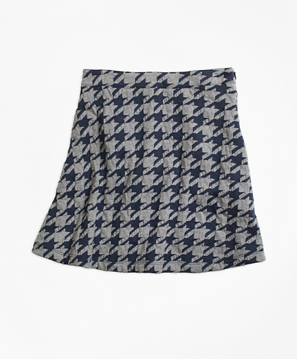 Girls Jacquard Houndstooth Skirt