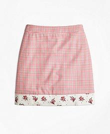 Mixed Media Cotton Stretch Skirt