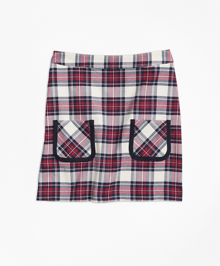 Girls Twill Plaid Skirt