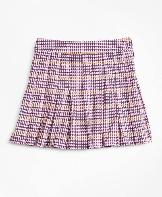 Girls Houndstooth Skirt Pink-Multi