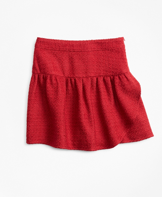 Girls Boucle Skirt Red