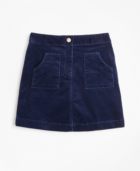Girls Corduroy Skirt Navy