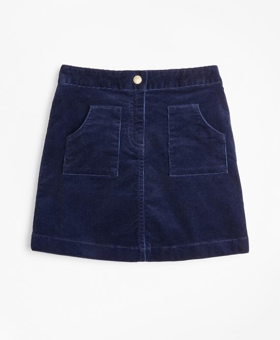 Girls Corduroy Skirt Navy