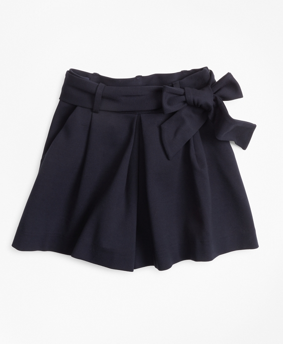 Girls Knit Ponte Skort Navy