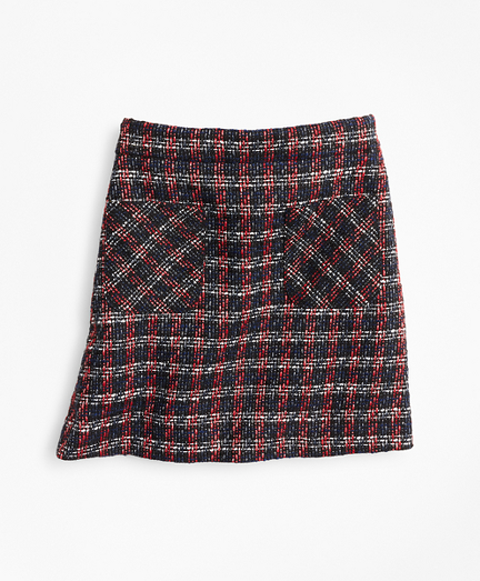 Girls Tweed Boucle Skirt