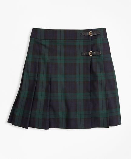 Girls Pleated Tartan Skirt