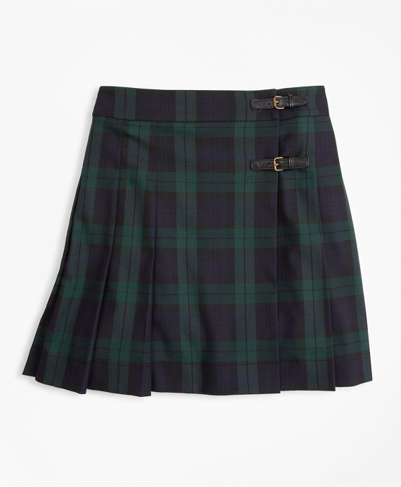 Girls Plaited Tarten Skirt