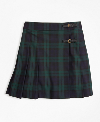 Girls Pleated Tartan Skirt