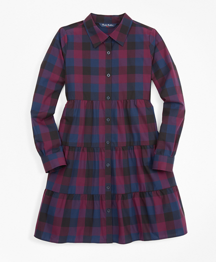 Girls Buffalo Check Shirt Dress