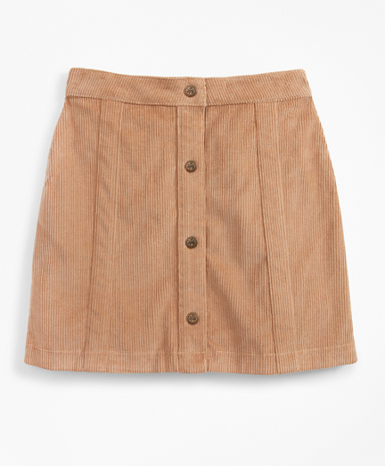 Girls Stretch Cotton Corduroy Skirt