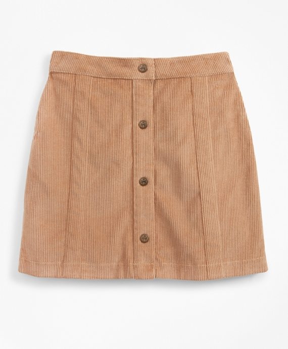 Girls Stretch Cotton Corduroy Skirt Khaki