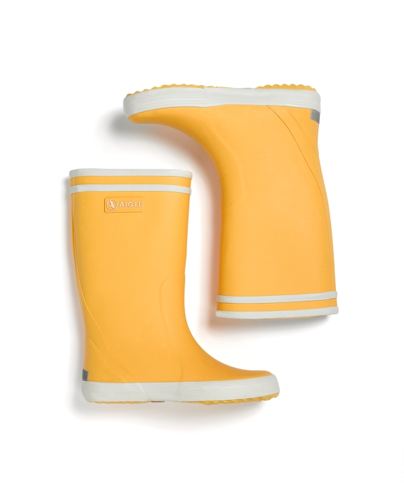 Girls Aigle Rainboots Yellow