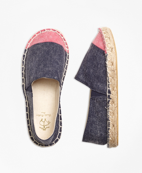Girls Cotton Espadrilles Navy