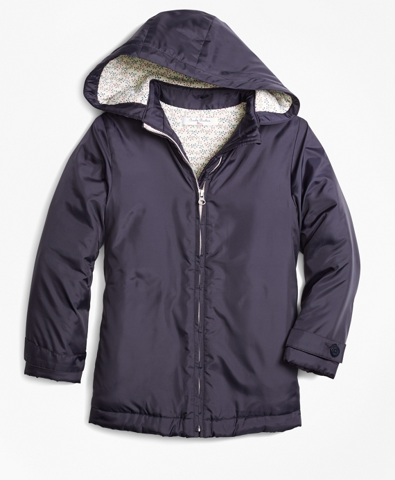 Girls Hooded Coat Navy