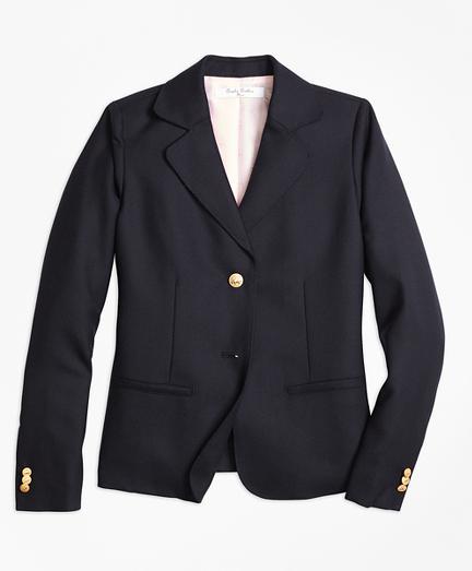Girls Wool Two-Button Blazer