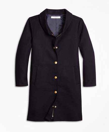 Girls Melton Long Coat