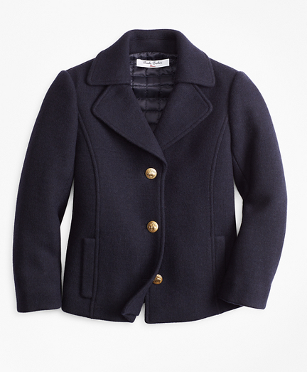 Girls Wool-Blend Peacoat