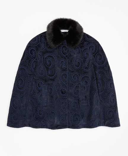 Girls Velvet Cape