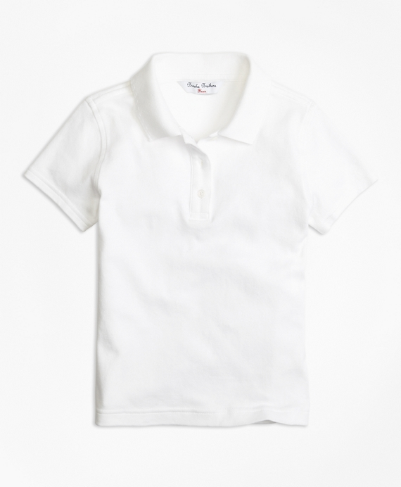 Girls Short-Sleeve Polo Shirt White
