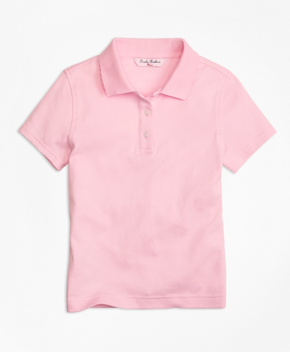 Girls Short-Sleeve Polo Shirt Light Pink