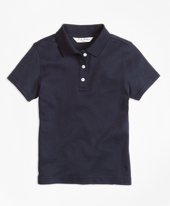 Girls Short-Sleeve Polo Shirt Navy