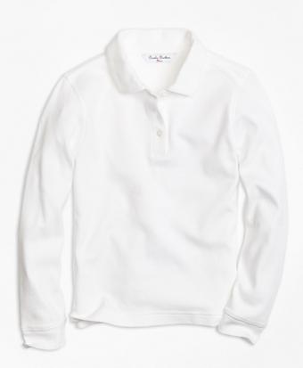 Girls Long-Sleeve Polo Shirt