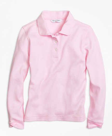 Girls Long-Sleeve Polo Shirt