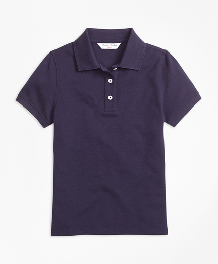 Girls Short-Sleeve Pique Polo Shirt