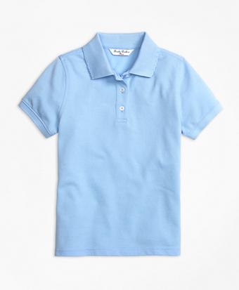 Girls Short-Sleeve Pique Polo Shirt