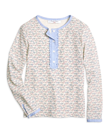 Girls Cotton Waffle Knit Tee