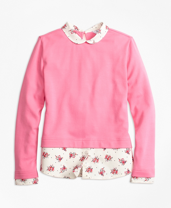Girls Mixed Media T-Shirt Pink