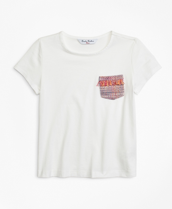 Girls Cotton Blend T-Shirt White