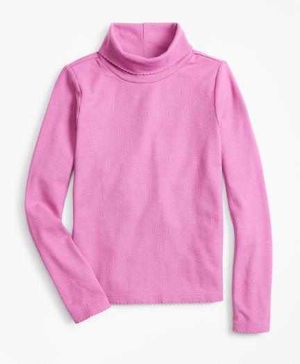 Girls Knit Scalloped Turtleneck