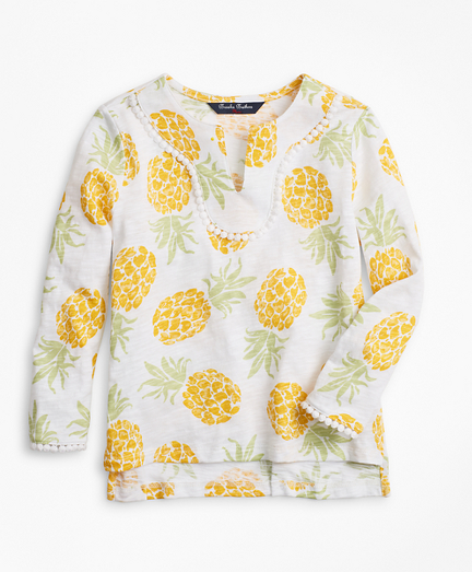 Girls Cotton Pineapple Print Tunic T-Shirt