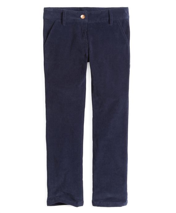Girls Corduroy Skinny Pants Navy