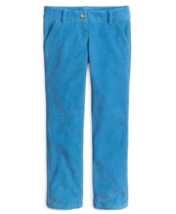 Girls Corduroy Skinny Pants Blue
