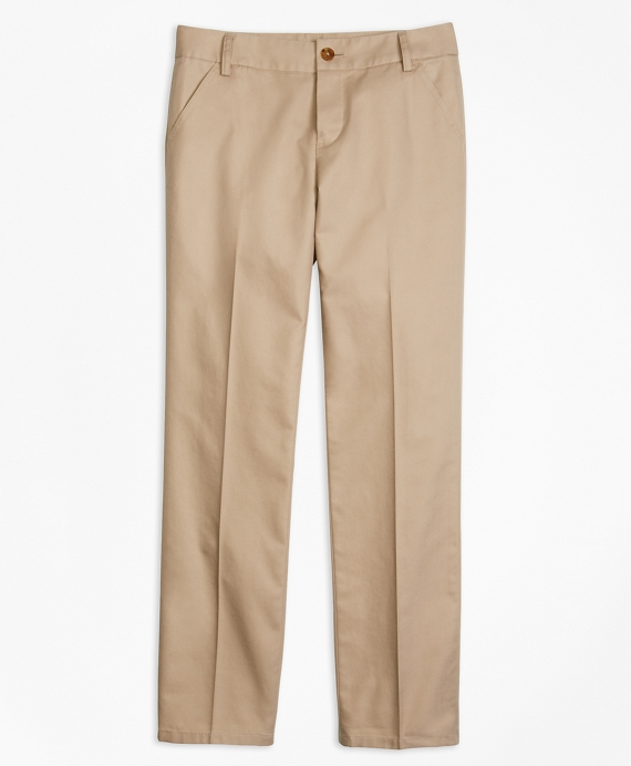 Girls Non-Iron Chino Pants Khaki