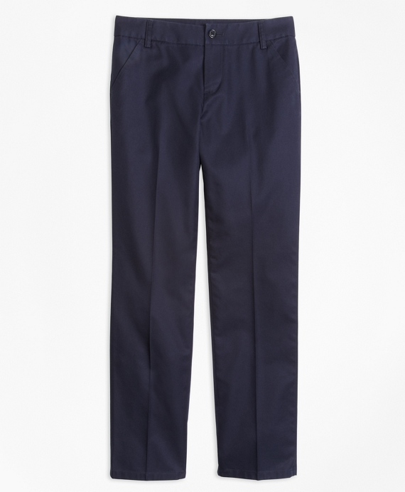 Girls Non-Iron Chino Pants Navy