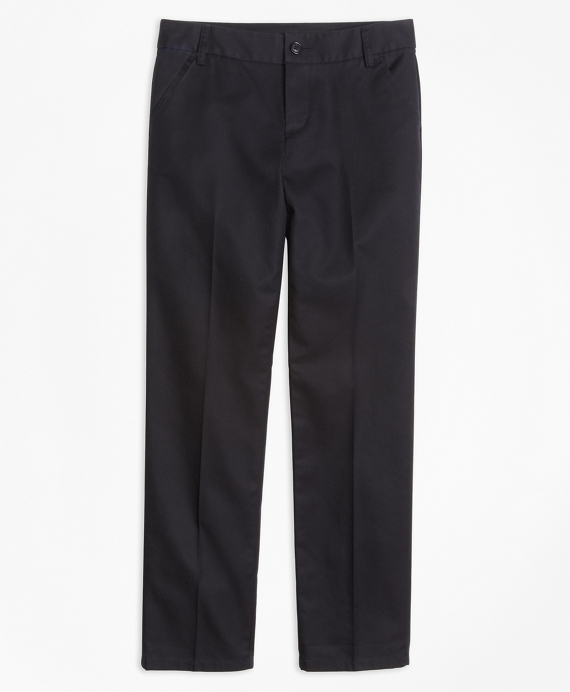 Girls Non-Iron Chino Pants Black