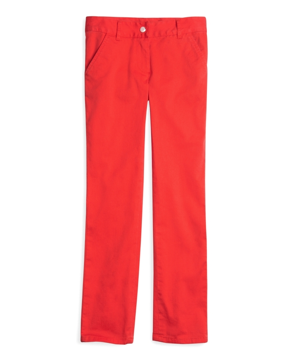 Girls Stretch Twill Skinny Pants Red