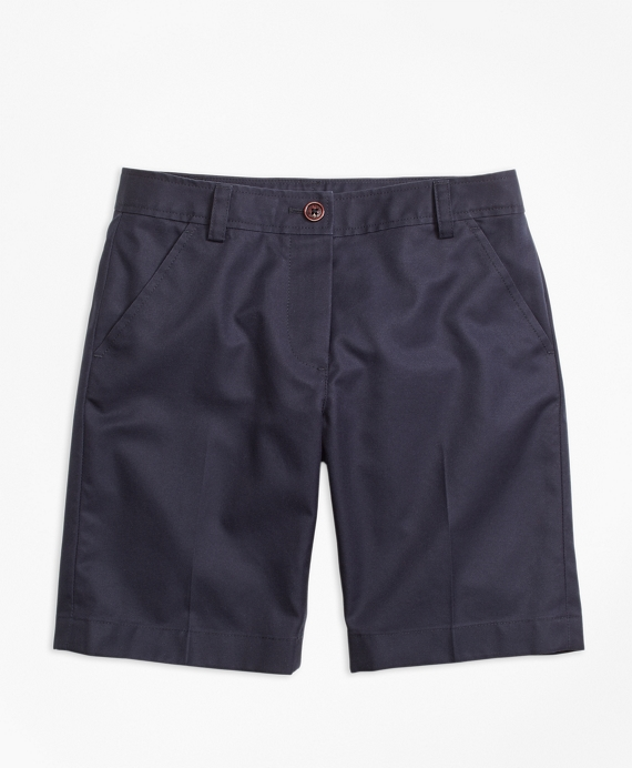 Girls Chino Bermuda Shorts Navy