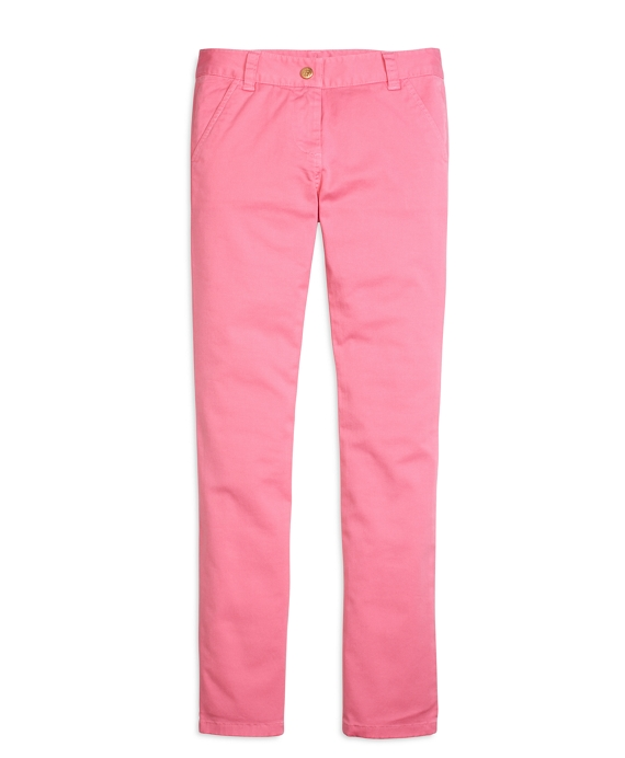 Girls Cotton Skinny Pants Pink