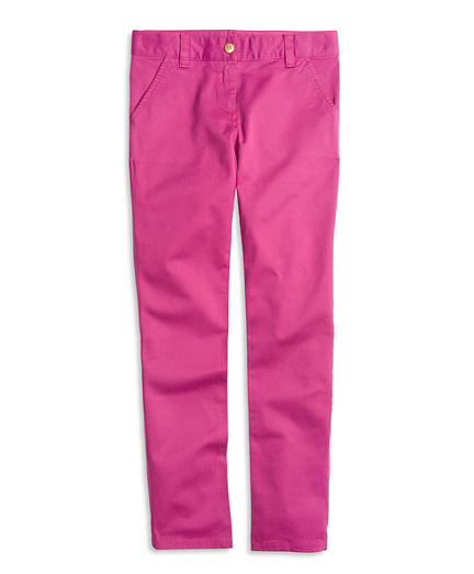 Girls Cotton Stretch Skinny Pants