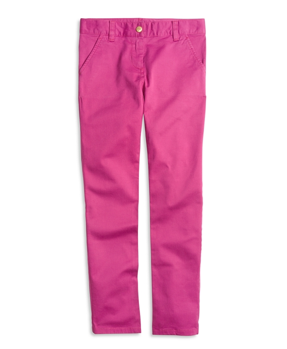 Girls Cotton Stretch Skinny Pants Pink