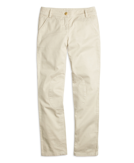 Girls Cotton Jodhpur Pants Khaki