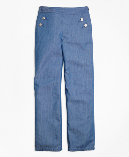 Girls Chambray Pants